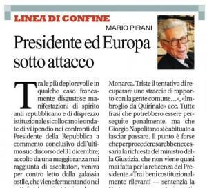 """Mario Pirani su Repubblica: """"Presidente ed Europa sotto attacco"""""""