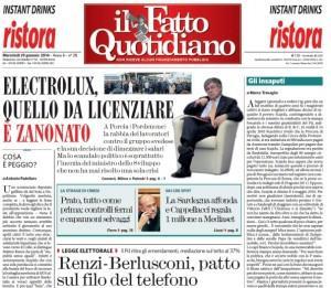 """Marco Travaglio sul Fatto Quotidiano: """"Gli insaputi"""""""