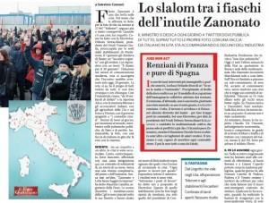 Lo slalom tra i fiaschi dell'inutile Zanonato, Salvatore Cannavò per Il Fatto Quotidiano