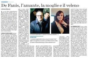 De Fanis, l'amante, la moglie e il veleno, Antonio Massari sul Fatto Quotidiano