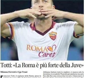 Francesco Totti, l'intervista al Messaggero