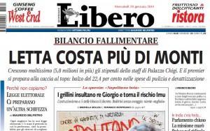 Letta costa più di Monti, Franco Bechis su Libero