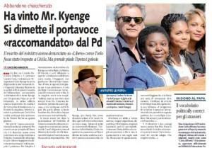 """Ha vinto Mr. Kyenge"""