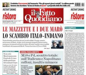 """Marco Travaglio sul Fatto Quotidiano: """"Cossighitano"""""""