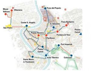 La mappa degli itinerari di Repubblica