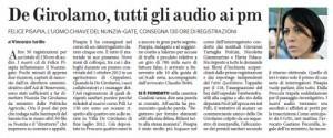 Nunzia De Girolamo, altre 50 registrazioni consegnate al pm