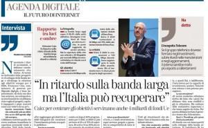 """Francesco Caio: """"In ritardo sulla banda larga ma l'Italia può recuperare"""""""