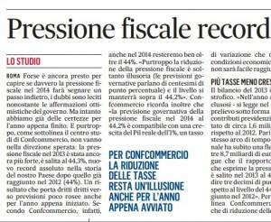 Pressione fiscale record: nel 2013 è salita al 44,3%