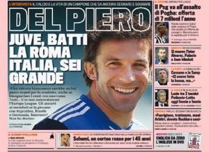 Del Piero, l'intervista alla Gazzetta dello Sport