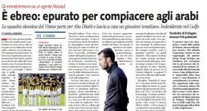 """Dan Mori, Libero: """"Il calciatore ebreo epurato dal Vitesse per compiacere agli arabi"""""""