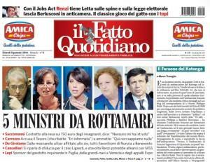 """Marco Travaglio sul Fatto Quotidiano: """"Il Faraone del Katonka"""""""