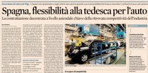 """""""In Spagna flessibilità alla tedesca per l'auto..."""""""
