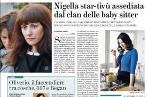 """Nigella Lawson, il Fatto Quotidiano: """"La star-tv assediata dal clan delle baby sitter"""""""