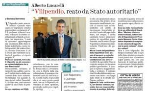 """Alberto Lucarelli al Fatto Quotidiano: """"Vilipendio, reato da stato Autoritario"""""""