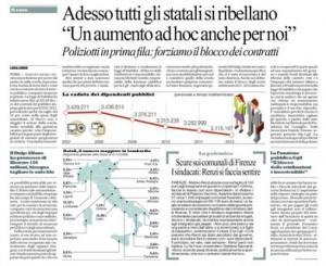 """Repubblica: """"Adesso tutti gli statali si ribellano"""""""