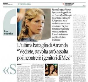 Amanda Knox, l'intervista a Repubblica