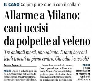 Allarme a Milano: cani uccisi da polpette al veleno. Coppetti sul Giornale