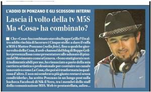 """Matteo Ponzano: l'addio del volto de """"La Cosa"""", la tv del M5s"""