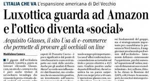 Luxottica guarda ad Amazon, Maddalena Camera sul Giornale