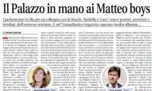 """Franco Bechis su Libero: """"Il Palazzo in mano ai Matteo boys"""""""