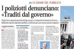 """Nicola Tanzi (Sap): """"I poliziotti traditi dal governo"""""""