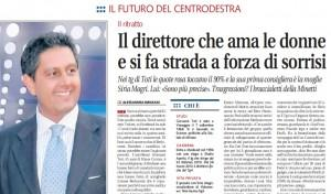 """Giovanni Toti, Libero: """"Il direttore che ama le donne e si fa strada a forza di sorrisi"""""""