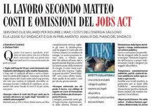 """Il Fatto Quotidiano. """"Costi e omissioni del Jobs Act di Matteo Renzi"""""""