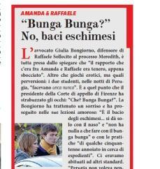 """Il Fatto Quotidiano: """"Bunga Bunga? No, baci eschimesi"""""""