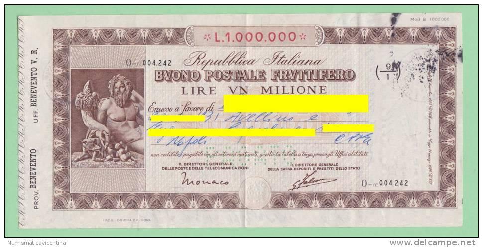 Disoccupata trova buono fruttifero del '75 da 1 mln di lire: ora vale 120mila €