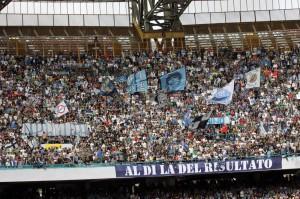 Napoli in finale, i tifosi fanno festa (LaPresse)