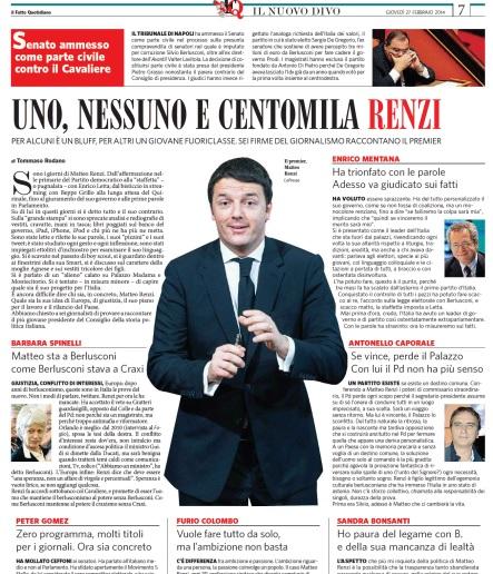 """Renzi, Barbara Spinelli: """"Sta a B. come B. stava a Craxi"""". Mentana: """"Ora i fatti"""""""