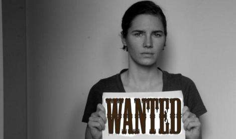 "Amanda Knox ""wanted"": il cartello parodia su Twitter"