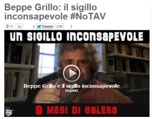 """Beppe Grillo blog: """"Processo No Tav? Confido nella giustizia, io calmo e sereno"""""""