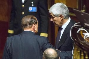"""Berlusconi: """"No agli attacchi a Casini. Lieto del suo ritorno"""""""
