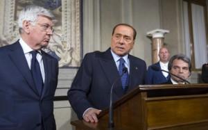 Berlusconi dopo i colloqui al Quirinale (Lapresse)