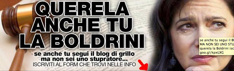 """M5s su Fb: """"Querela anche tu Laura Boldrini per diffamazione"""""""