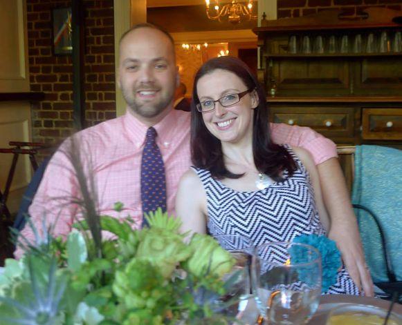 Callaghan con la moglie