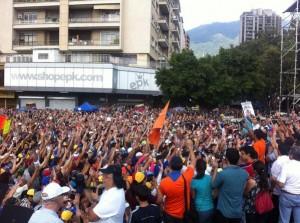 Protesta antigovernativa a Caracas