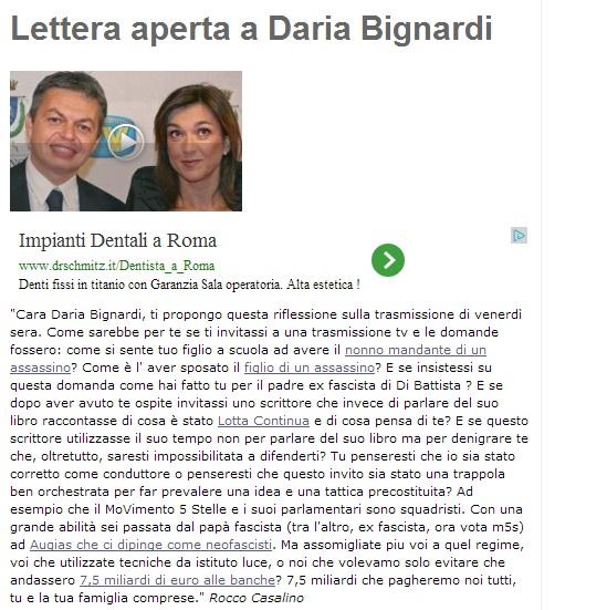 """Rocco Casalino (M5s): """"Daria Bignardi com'è sposare il figlio di un assassino?"""""""