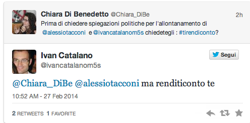M5s, Ivan Catalano dimissionario: lite con Di Benedetto su Twitter per i soldi