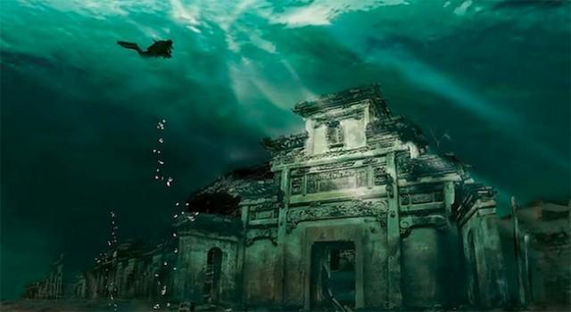 Lion City, la città sommersa nel lago di Qiandao costruita 1800 anni fa (foto)
