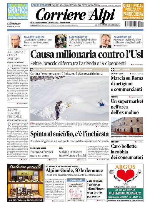 La rassegna stampa locale del 12 febbraio 2014