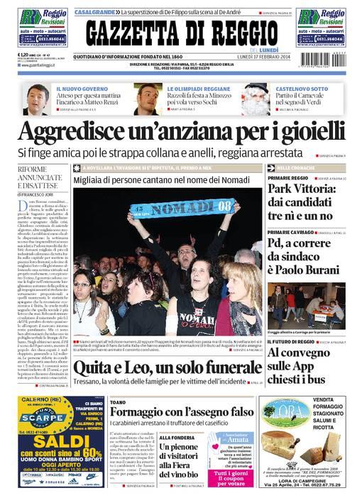La rassegna stampa locale del 17 febbraio 2014
