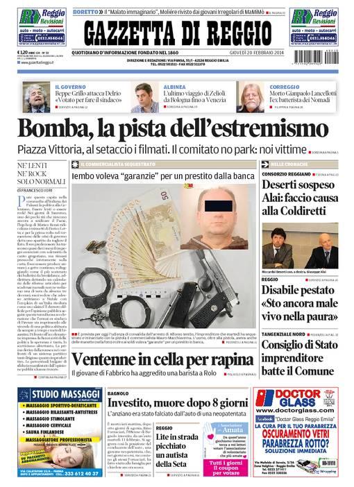 La rassegna stampa locale del 20 febbraio 2014