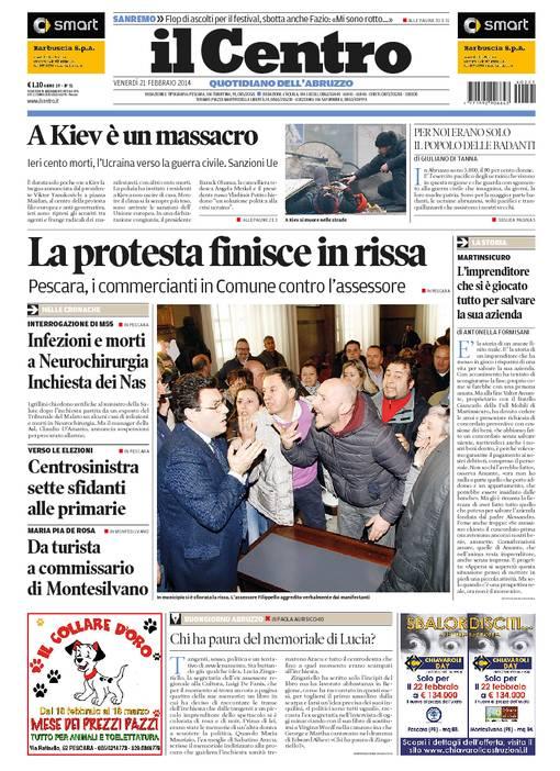La rassegna stampa locale del 21 febbraio 2014
