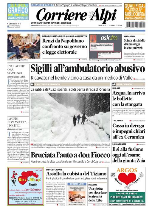 La rassegna stampa locale dell'11 febbraio 2014
