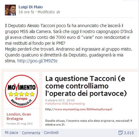 """M5s, Di Maio e Di Battista: """"Via parassiti"""". Scissionisti: """"Vi credete i capi"""""""