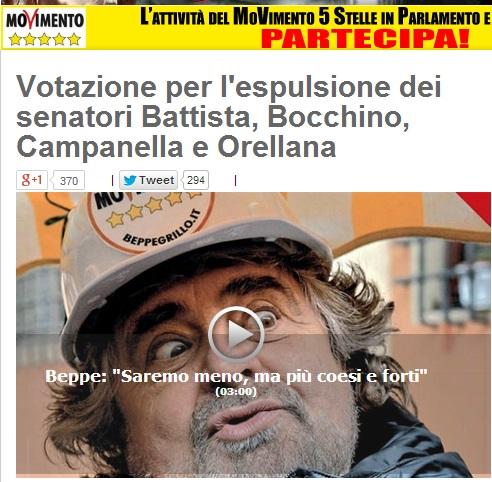 M5s, Orellana, Bocchino, Campanella e Battista si difendono con video Youtube