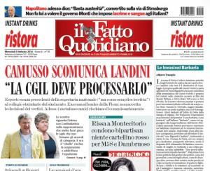 """Marco Travaglio sul Fatto Quotidiano: """"Le invasioni barbaria"""""""