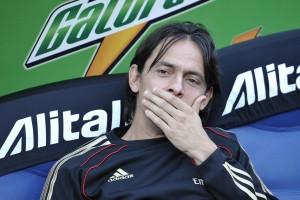 L'allenatore del Milan primavera Filippo Inzaghi